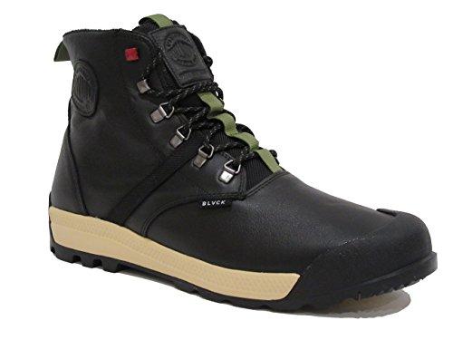 Palladium Men pampatech HI LEA WP Boot (8.5 D(M) US Men / 10 B(M) US Women, Black/Scale)