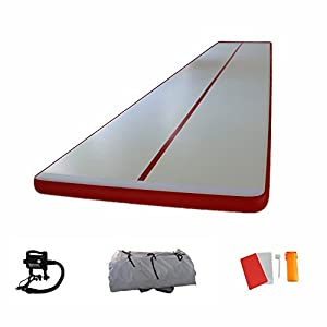 Inflatable Training Mat Air Track Fitness Mat for Gymnastics with Free Electric Pump 39 Feet