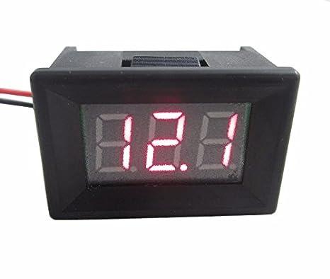 DIGITEN Mini 2 Wire DC 4.5-30V LED Panel Digital Display Voltage Meter Voltmeter