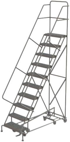Tri-Arc escalera de acero con ángulo de seguridad multidireccional industrial y de almacén con remache de agarre, 10-Step, 1: Amazon.es: Bricolaje y herramientas