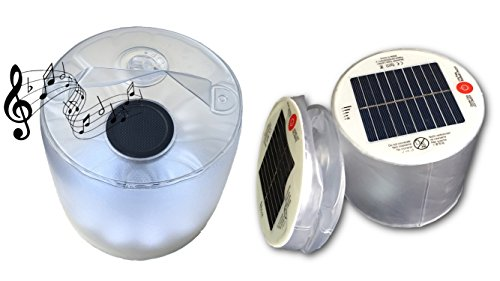 Bluetooth Solar Speaker with LED Lantern Light, Portable Wireless Bluetooth Speaker Floats on Water, Great for Pools, Fishing, Patio, Picnic, Camping, Hiking, Biking and ETC