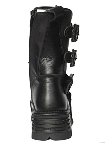 NEWROCK New Rock M.391 S.18 noir métallisé Reactor Punk Gothic Moto Unisexe Bottes