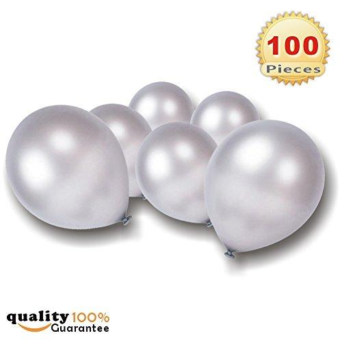 PMLAND 100 Pcs Silver Latex -