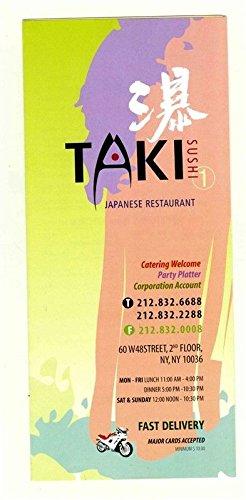 Amazon.com : TAKI Sushi Japanese Restaurant Menu W 48th ...