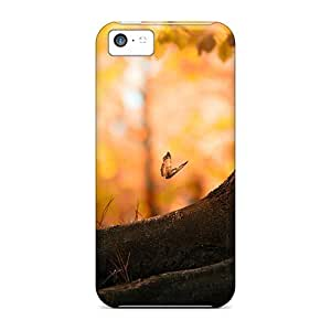 Premium Vkp844pgRl Case With Scratch-resistant/ Butterfly Wood Case Cover For Iphone 5c