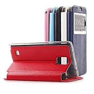 GX Teléfono Móvil Samsung - Carcasas de Cuerpo Completo - Color Sólido - para Samsung Galaxy Note 4 ( Multi-color , Cuero PU ) , White