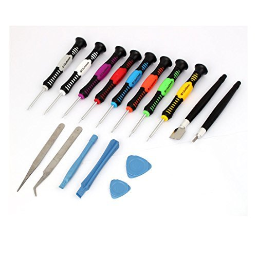 (eDealMax Kit tournevis brucelles Set Outils de réparation polyvalent 16 en 1 pour PC PDA Téléphone)