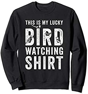 This Is My Lucky Bird Watching  Gift Birding Bird Sweatshirt T-shirt | Size S - 5XL