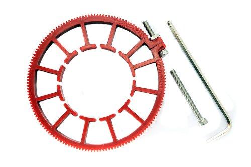 Cinematics Dslr Lens Gear Ring for Follow Focus Belt 60-70mm for Dslr Pro Mod 0.8 Red CTX-6070RED