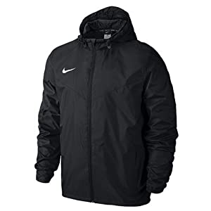 Nike Men's Team Sideline Rain Soccer Jacket (Medium) Black