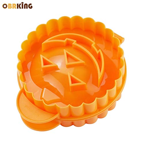 1 piece OBRKING Halloween Pumpkin Rice Dumpling Press Mold Fondant Molds Sugarcraft Cake Cutter Decorating Tool Baking Pastry Supplies