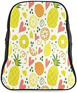 Citrus Seamless With Orange Lemon Pineap Fashion Womens Bag Hike Daypack School Bags Print Zipper Students Unisex Adult Teens Gift