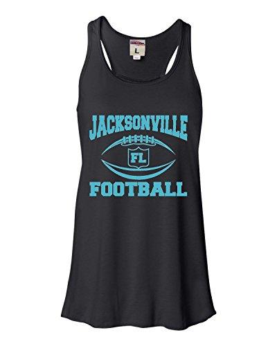 (X-Large Black Womens Jacksonville Football Flowy Racerback Tank Top)