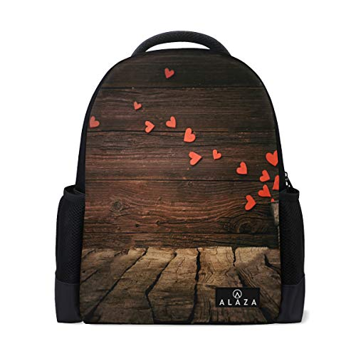 (Valentines Day Background Backpack Womens Laptop Daypack School Hiking Mens Travel Bags Student)