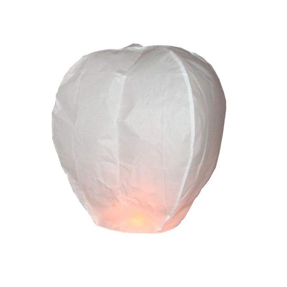 1 x White Sky Lantern - Eco Friendly Sky Lantern for Christmas, New Years Eve, Chinese New Year, Weddings & Parties. 1 x Chinese Lantern Sky Lanterns Ltd.