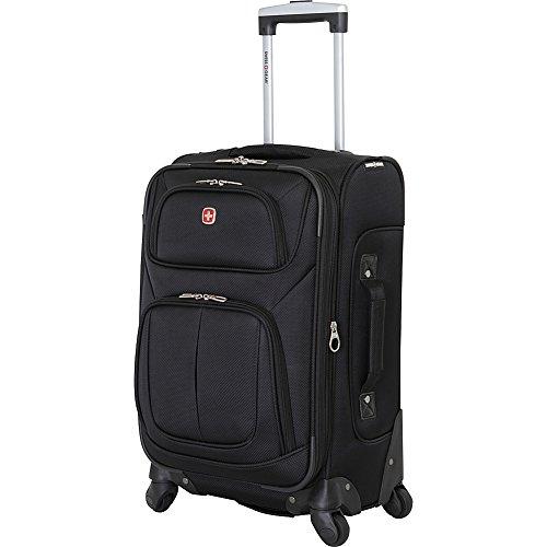 "SwissGear Sion 21"" Black Carry-On Luggage, Black"