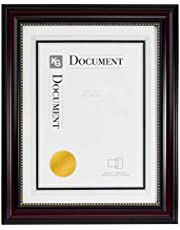 """kieragrace KG Lucy Document Frame - Dark Brown w/ Gold Beading, 8.5"""" by 11"""""""