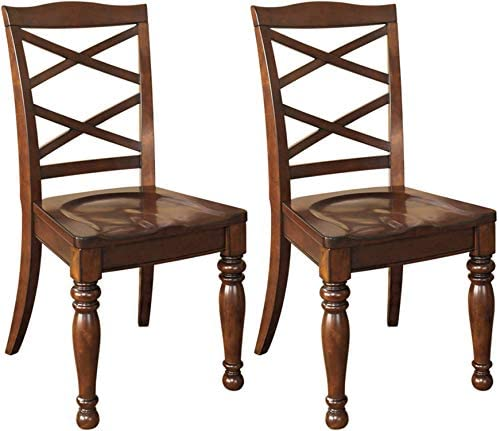 Signature Design by Ashley Porter Dining Chair, Side, Rustic Brown