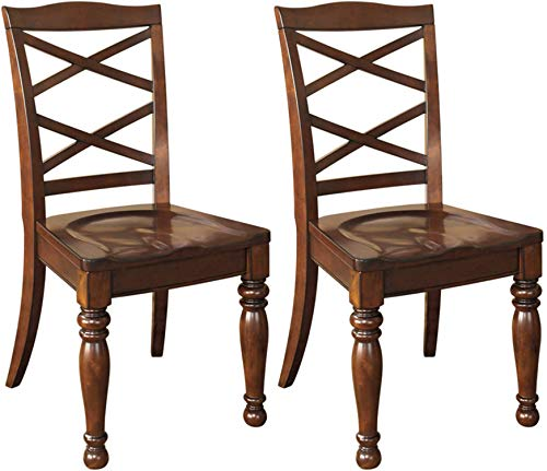 Signature Design By Ashley – Porter Dining Room Side Chair – Set of 2 – Casual Style – Rustic Brown