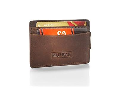 MUTBAK Bunker - Front Pocket Money Clip Wallet with RFID/NFC Blocking