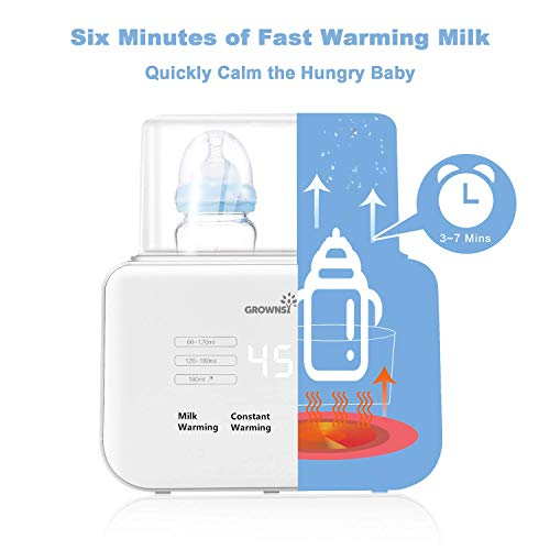 Baby Bottle Warmer, Bottle Warmer 6-in-1Fast Baby Food Heater&Defrost BPA-Free Warmer with LCD Display Accurate Temperature Control for Breastmilk or Formula