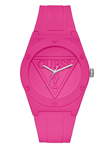 Strap Guess Ladies (Guess Women's Quartz Rubber and Silicone Casual Watch, Color Red (Model: U0979L9))