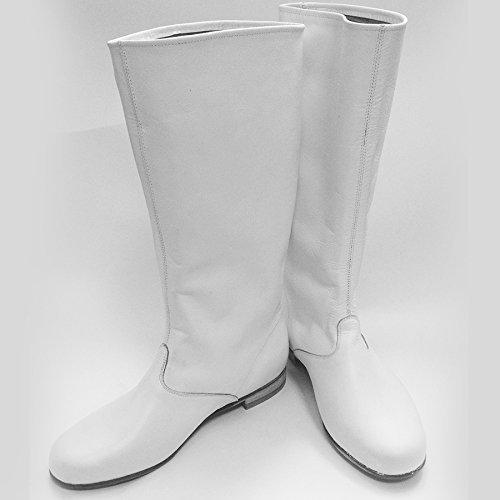 8afad1eb89d Amazon.com: Cossack boots Russian leather boots men white dance ...
