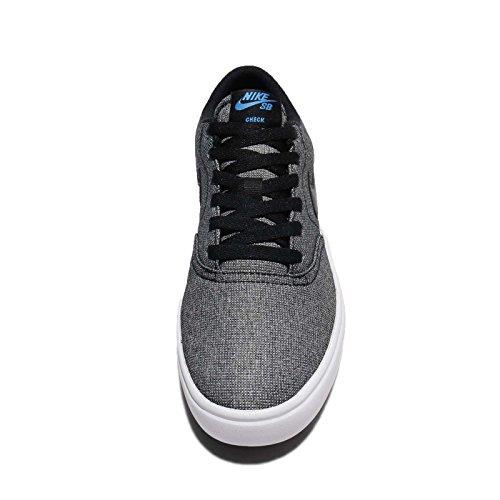 Nike Mens Sb Check Sol Cnvs Skatesko Svart / Svart-vit-foto Blå
