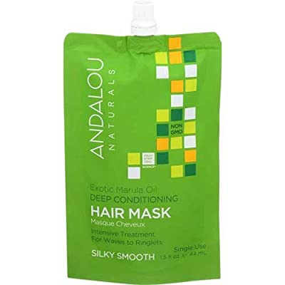 Andalou Naturals Exotic Marula Oil Silky Smooth Deep Conditioning Hair Mask, 1.5 Fluid Ounce -- 6 per case.