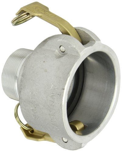 "Dixon 3020-B-AL Aluminum Type B Cam and Groove Reducing Hose Fitting, 3"" Socket x 2"" NPT Male"