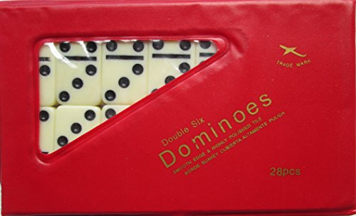 Fame 6631IV Double 6 Mini Ivory Domino Set