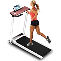 COOLBABY Folding treadmill,remote control fitness equipment, suitable for home/office,Running Machine Running Incline…