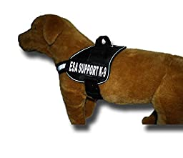 Emotional Support Nylon Dog Vest Harness. Purchase comes with 2 reflective \