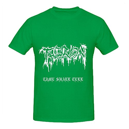 Therion Time Shall Tell Hits Mens O Neck Music T Shirt Green