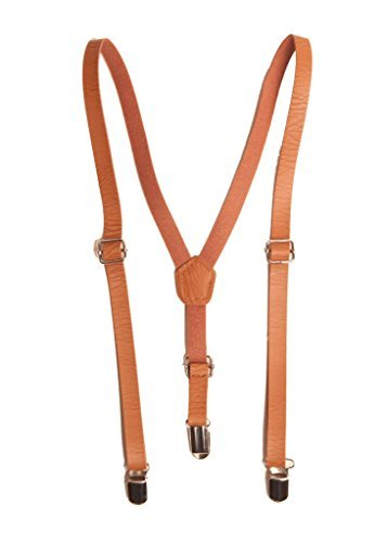 Faux Leather Suspenders for Boys and Girls. Medium (fits ages 4-10yrs)