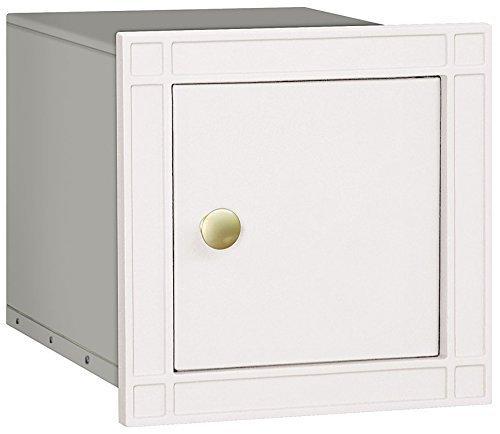 Salsbury Industries 4140P-WHT Cast Aluminum Column Non-Locking Plain Door Mailbox, White by Salsbury Industries - Mailbox White Plain Door