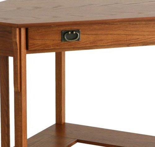 Corner Computer Desk Mission Oak Small Corner Computer