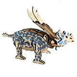 Jack West Brain Teaser Puzzles 3D Wooden Puzzle Craft Toy 3D Puzzle Woodencraft Assemble Kits Laser Cutting Wooden Puzzle Fun DIY Educational Assembled Toy for Adults and Kids (Achelousaurus)