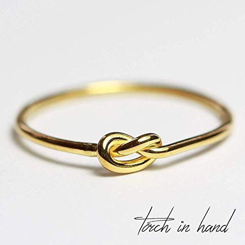Solid 14k Gold Stacking Knot Ring ()