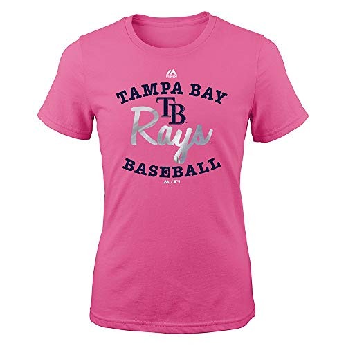 - Outerstuff Tampa Bay Rays Majestic MLB Youth Youth Pink Overlap Graphic T-Shirt