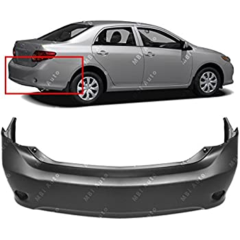 Rear Bumper Cover for 2009 2010 Toyota Corolla Sedan S XRS 09 10 TO1100265 MBI AUTO Painted to Match