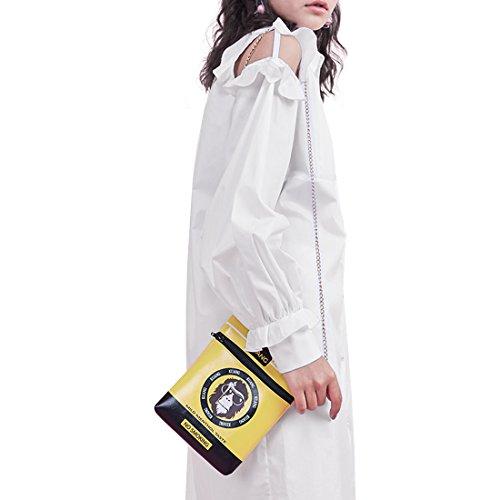 Phone Box Purse Cross Cigarette bag Bag body Funky Women Party Yellow Novelty Kuang Bag zqxnCUF