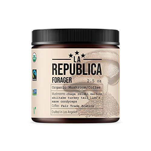 Forager Organic 7 Mushroom Coffee Blend for Energy Focus & Health (Bulletproof Keto Paleo Vegan Mix Brain Chaga)