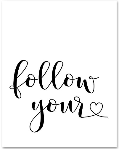 Follow Your Heart - 11x14 Unframed Typography Art Print - Great Nursery or Child's Room Decor from Personalized Signs by Lone Star Art