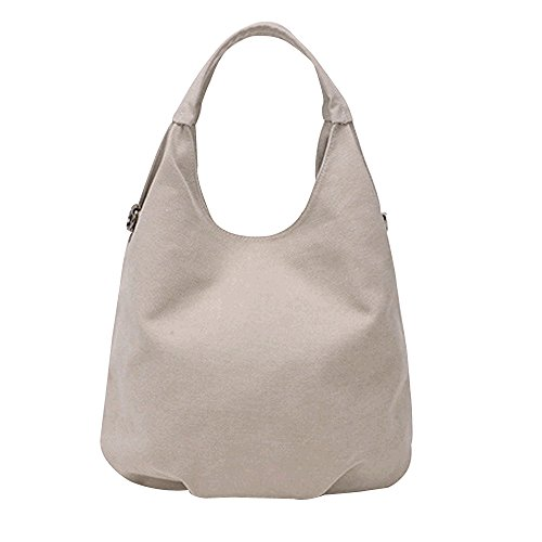 Hobos Women's Canvas Bag Beige Tote Pleated Bag Structured Flowertree Shoulder fOqFIH