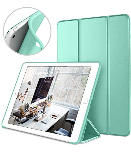 DTTO Mini Case for iPad Mini 3/2/1, (Not Compatible with Mini 5th Generation 2019) Ultra Slim Lightweight Smart Case Trifold Cover Stand with Flexible Soft TPU Back Cover [Auto Sleep/Wake],Mint Green (Ipad Mini 3 Stand Cover)