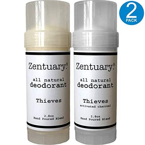 Body Original Deodorant Total (Zentuary All Natural Aluminum Free Deodorant, 2.8 Oz Stick (Thieves Original + Thieves w/Activated Charcoal Bundle) 2-Pack)