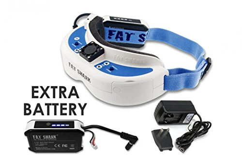 Fat-Shark-DominatorV3-HD-FPV-Goggles-Kit-with-Extra-Battery-Wall-Charger-For-DJI-Drones-Phantom-4