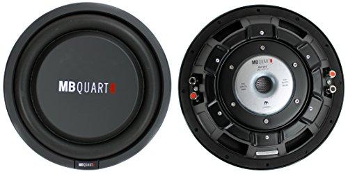 2) MB QUART RLP304 12' 1200W Car Shallow Slim Mount Subwoofers Subs Audio Woofer