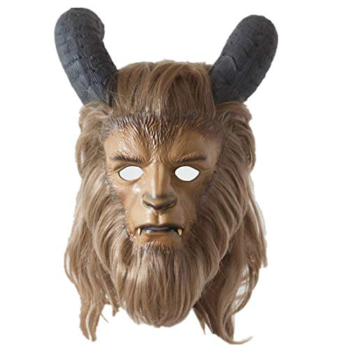 Yacn Beauty and The Beast Mask for Adult,Beat Mask Prince Full Face Mask Robby Benson Costume Cosplay -
